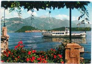 1964 Lago di Como BELLAGIO visto da Cadenabbia-battello