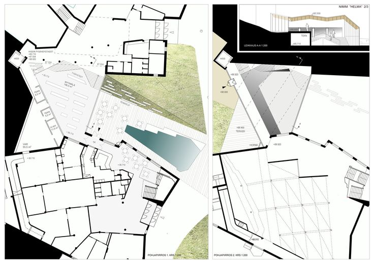 Alvar Aalto MUSEO Ruusupuisto architectural competition. Check site www.alvaraalto.fi/ruusupuisto for author information