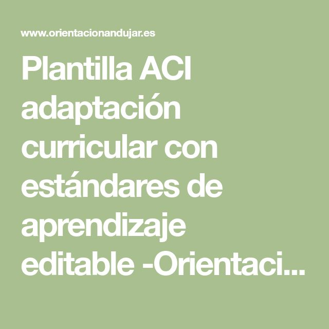 50 best Informes Acs PT images on Pinterest | Educación especial ...