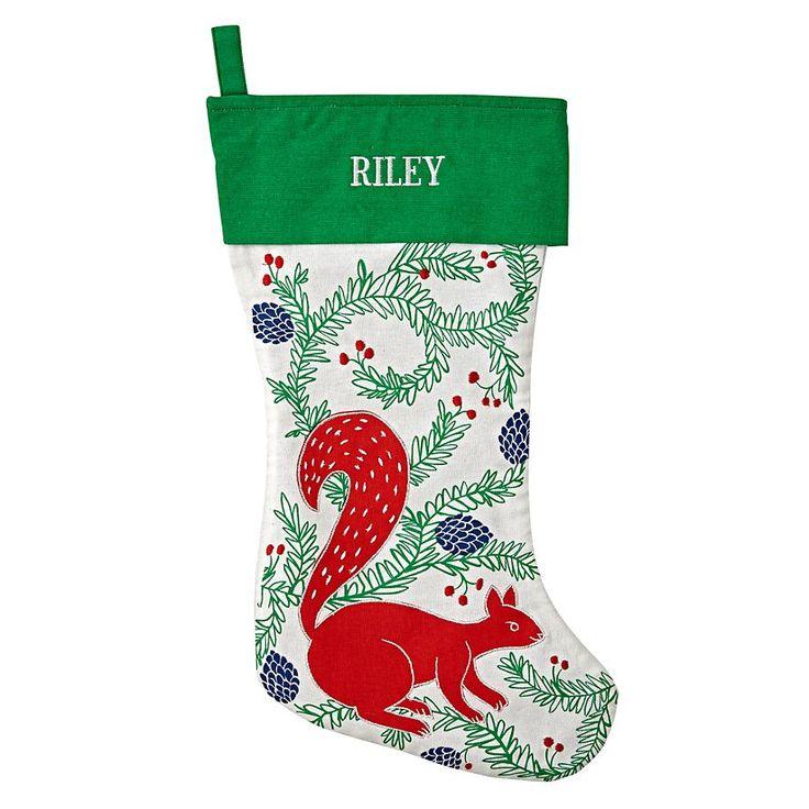 Festive Folklore Squirrel Stocking
