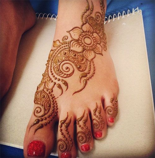 Mehndi For Ankle : Top foot henna designs mehndi instagram and design