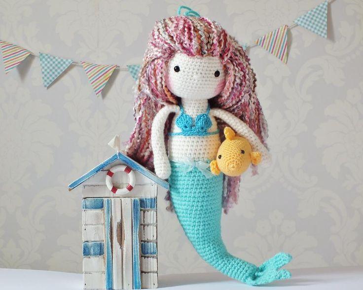 Crochet Mermaid doll/ intermediate/ CROCHET pattern/ what little one wouldn't like this cute mermaid, just like Ariel