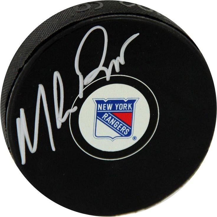 Steiner Sports Mike Richter New York Rangers Autographed Hockey Puck, Black