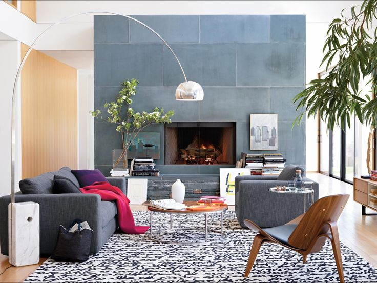 Love Everything About This Room. The Slate Fireplace Is Gorgeous. Gray,  Black U0026 White With Splashes Of Color, Even Warm Tones That Makes It Modern  Cozy.