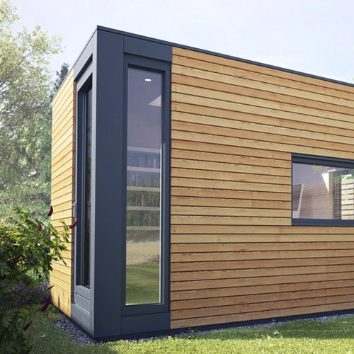 Micro pod is a compact home office away from the main home for Eco garden office
