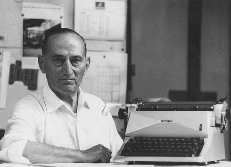 Marcello Nizzoli   1887 - 1969    Italian artist, architect, industrial and graphic designer.  He was the chief designer for Olivetti for many years and was responsible notably for the iconic Lettera 22 portable typewriters in 1950.