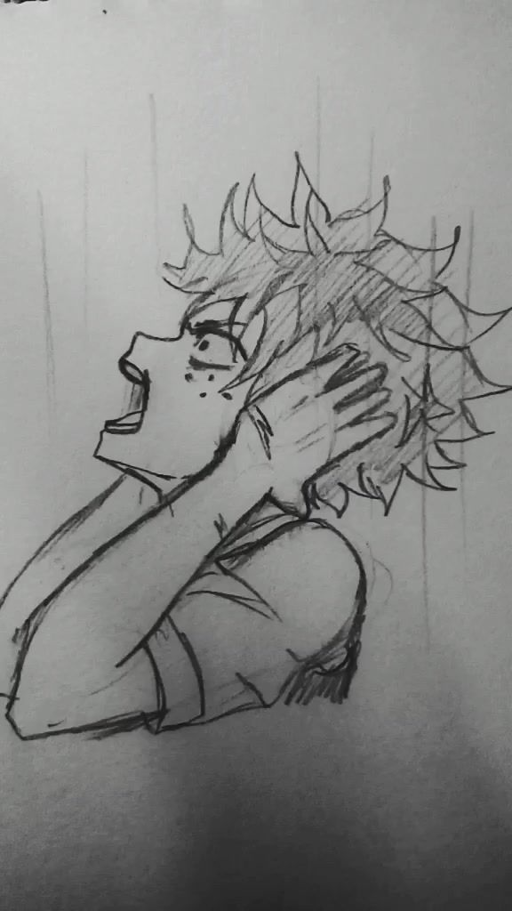 Anicrazy Anicrazy On Tiktok Kakogo Deku Vy Bolshe Lyubite Sketch Anime Bnha Myheroacademia Deku Villiandeku Villia Anime Animation Humanoid Sketch
