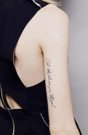 arm tattoo...