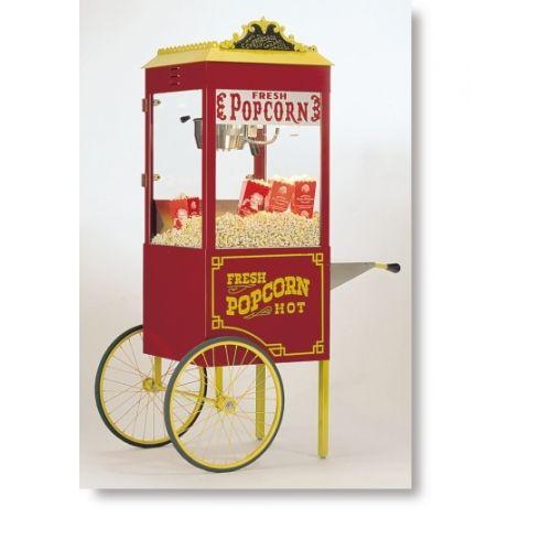 Cretors T-2000 Antique Popcorn Popper w/ Cart 8 oz, One Pop, 120V