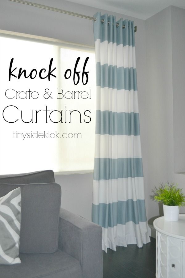 DIY Grommet Top Curtains {a Crate and Barrel Knock Off} Making your own grommet top curtains is so easy with the use of grommet tape.  No fancy tools necessary. #diycurtains #simplesewingprojects