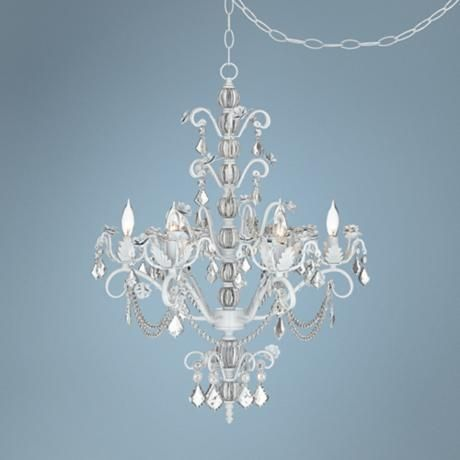 Kathy Ireland Dorset Swag Plug In Style 6 Light Chandelier This Is It