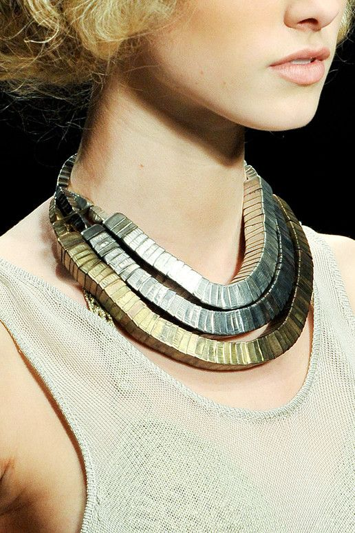 Necklace |  Mark Fast. Spring 2012 collection: Statement Necklaces, Style, Collar Accessories, Metal Necklaces, Metals, Accessories Details, Jewelry