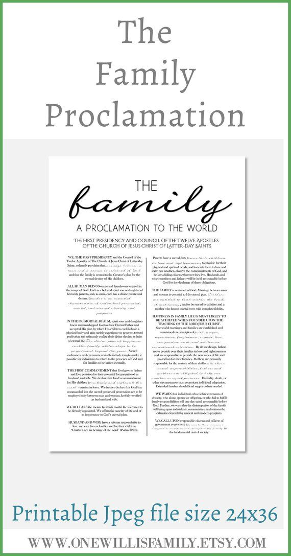 picture regarding Family Proclamation Printable identified as Family members Proclamation, Residing Christ, Material of Religion