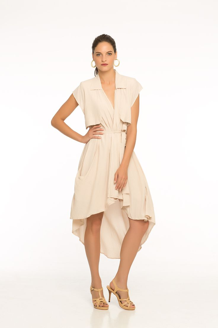 Auntum Blonde Wrapped Dress Available in Auntum Blonde, Paradise Pink & Off White
