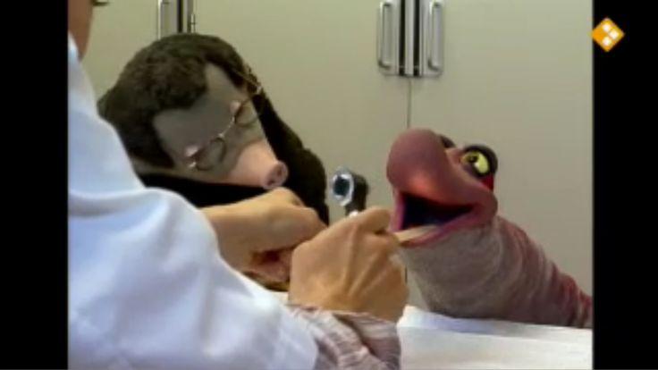 Thema: Werk, Gezondheid & Lichaam. Piertje moet naar het ziekenhuis om haar amandelen te laten knippen. Een verpleger legt uit wat er gaat gebeuren. Na de operatie gaat Piertje naar de uitslaapkamer. Daar kijkt de arts haar keel na. Het doet nog maar een beetje pijn. Daarvoor mag ze ijsjes eten. Ineens heeft Moffel ook last van zijn keel.