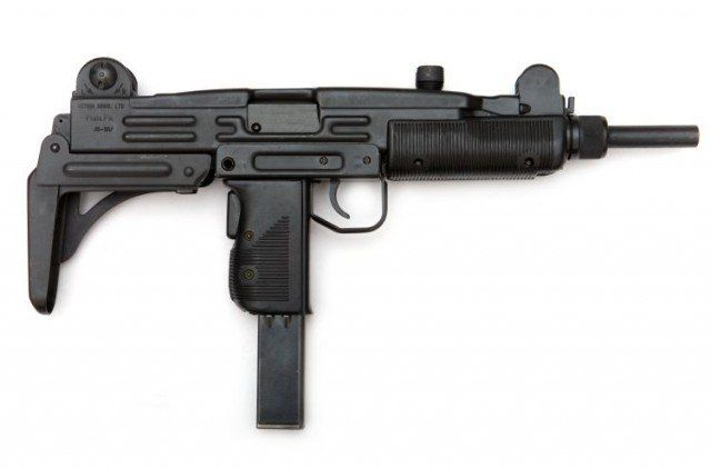 The Uzi is a family of Israeli open-bolt, blowback-operated submachine guns. Smaller variants are considered to be machine pistols. The Uzi was one of the first weapons to use a telescoping bolt design which allows the magazine to be housed in the pistol grip for a shorter weapon