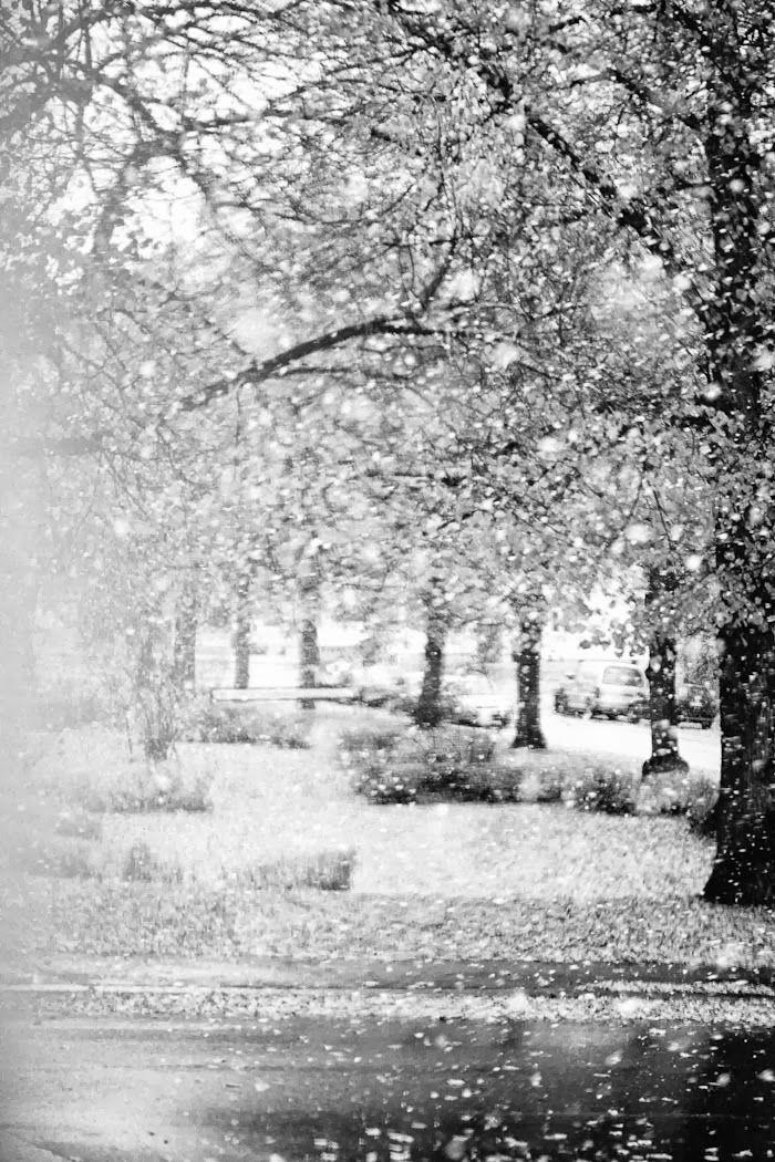 first snow in Tampere, photo via asunto e blog