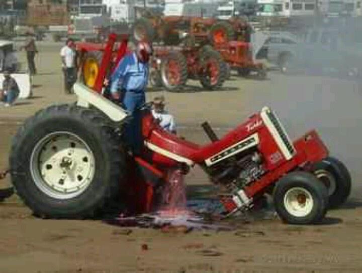 Tractor Pulling Clutch : Farmall puller broken in half pinterest