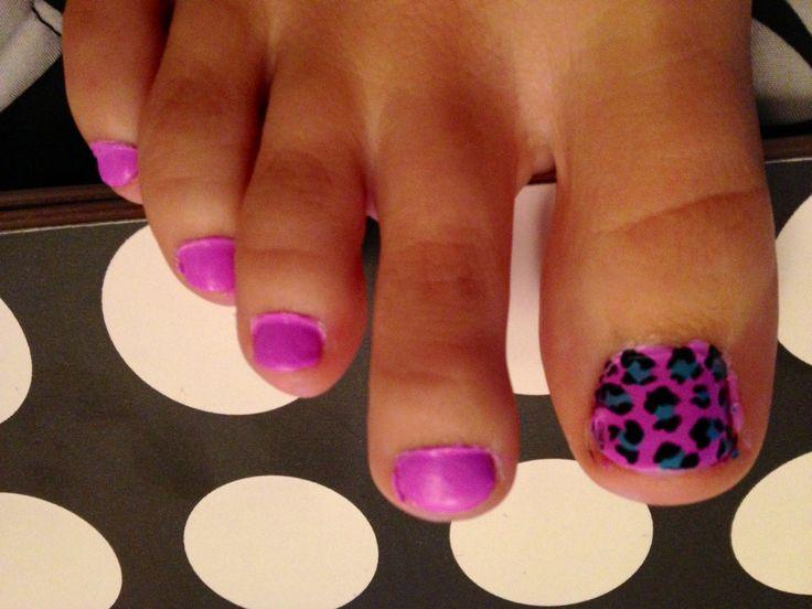 Cheetah big toe & color! My next pedicure!!!!
