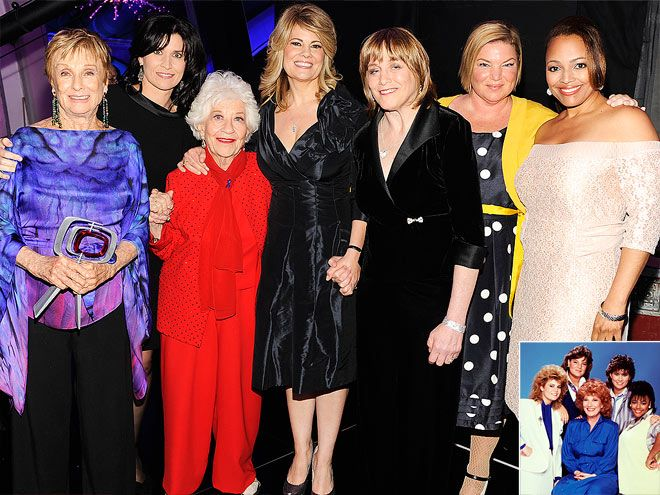 The Facts of Life - (1979-1988). Pictured:  Charlotte Rae, Cloris Leachman, Geri Jewell, Kim Fields, Lisa Whelchel, Mindy Cohn, Nancy McKeon. Partial Guest List: Frank Bonner, Zsa Zsa Gabor, Peter DeLuise, Joyce Bulifant, Charo, Ray Combs, Alan Campbell, JoAnn Willette, Jermaine Jackson, Eve Plumb, John Astin, Dick Van Patten, Mayim Bialik, Richard Moll, Bill Macy, David Spade, George Clooney, Billie Bird and Robert Mandan.