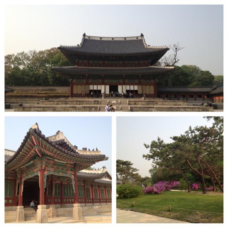 Ett av flera stora och gamla tempelområden i Seoul.