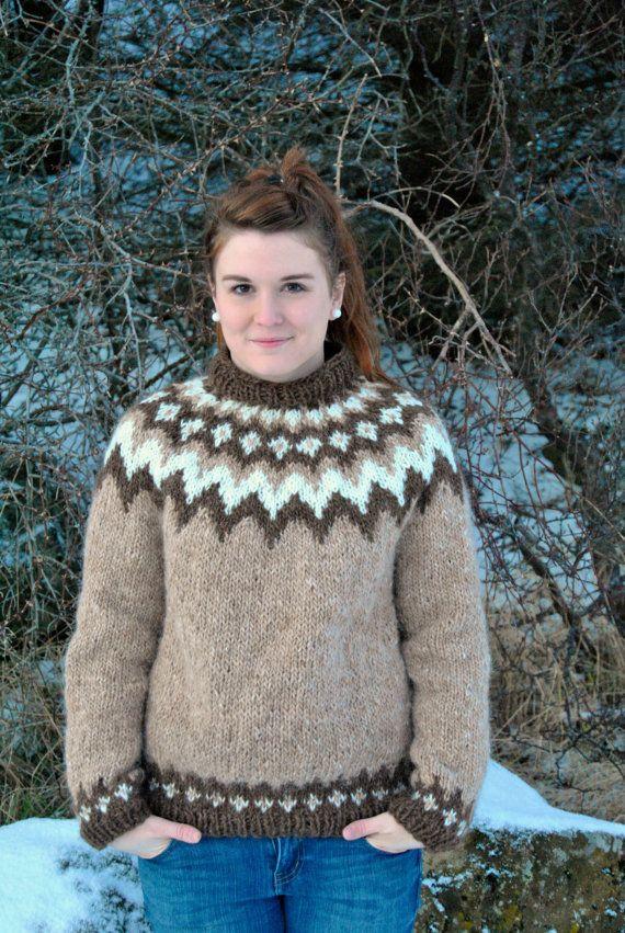 Baldur Icelandic Sweater  Handmade with by IcelandicKnitsbyAnna, $159.00