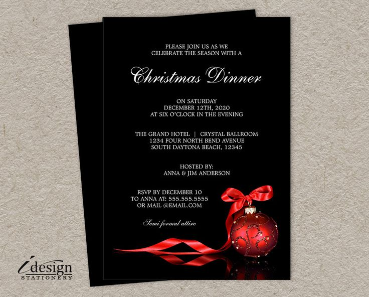 178 best images about Christmas And Holiday Party Invitations on – Christmas Dinner Party Invitations