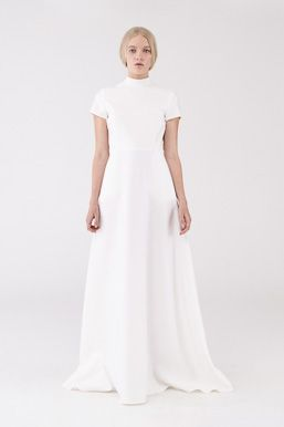 m a c g r a w Herder Dress in Ivory