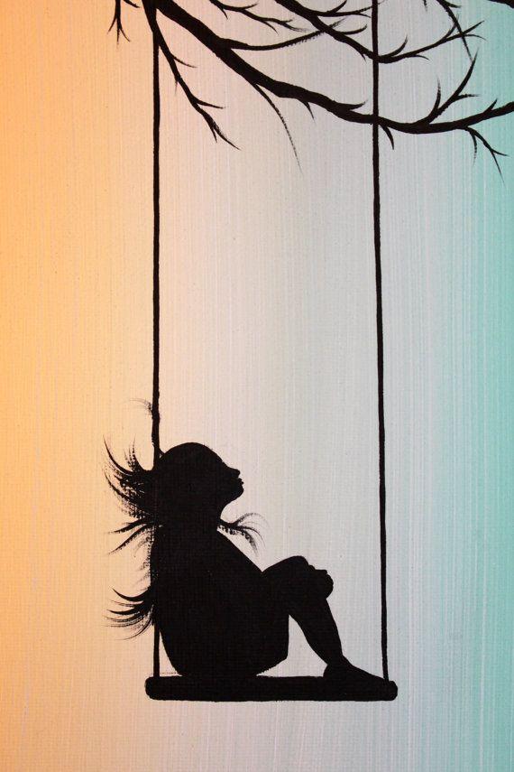 Ik heb dit stuk Peppermint Swing met een adellijke titel. Dit is een origineel schilderij.  In dit schilderij, een jong meisje ligt op haar schommel, kijken op een surrealistisch pepermunt hemel. Ze maakt wensen, en ze dagdromen tijdens het wachten voor de sterren om te verschijnen. Een vriendelijke vogel zitstangen in de bomen takken boven haar, terwijl zijn gevederde vrienden in de verte vliegen. Dit schilderij is vol van whimsy, betovering en verbeelding.  De kleuren die ik in dit…