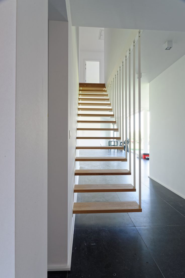 Jo-a Up suspended staircase. The floating stair in its purest form. #