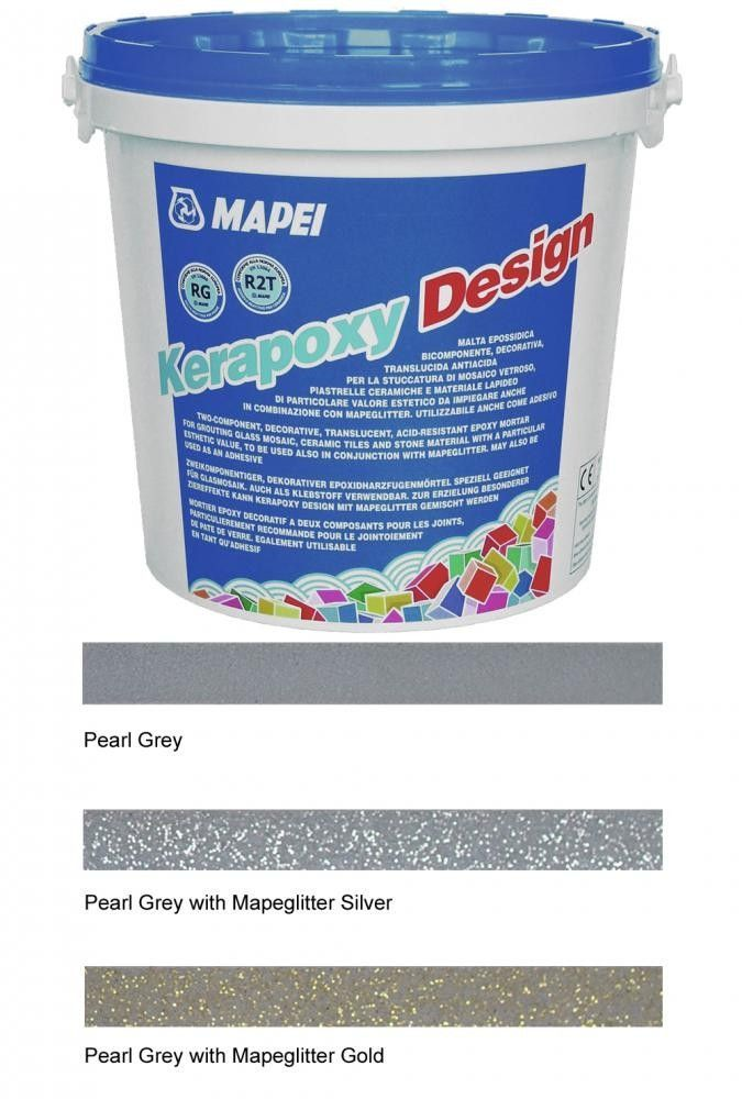 Kerapoxy Design Pearl Grey Tile Adhesive Grout Gold Tile Glitter Grout Adhesive Tiles