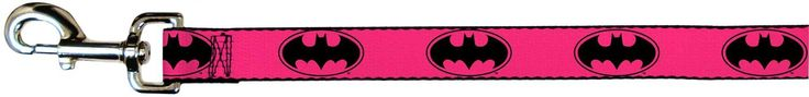 Pink Batman Seat Seat Belt Buckle Dog Collar or Leash *** Find out more details by clicking the image : Dog leash