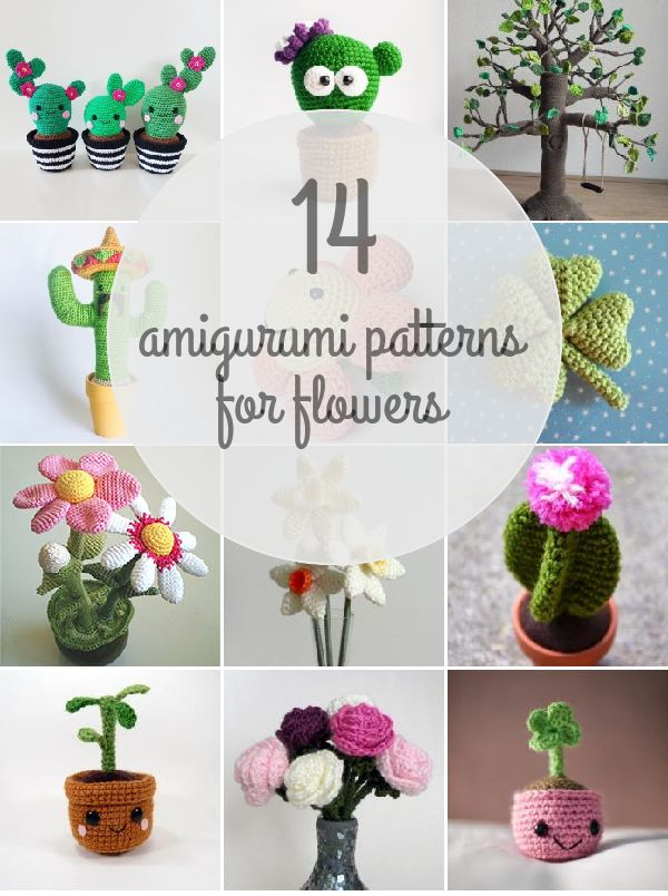 Amigurumi Patterns For Flowers