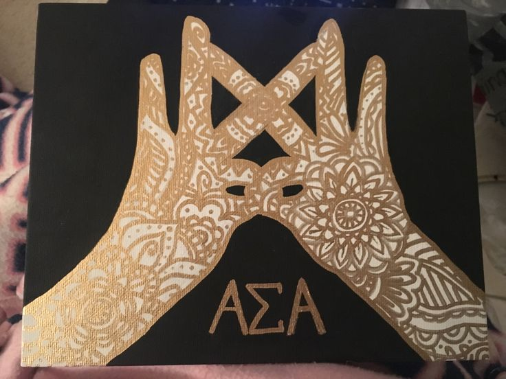 Alpha Sigma Alpha throw what you know sorority canvas