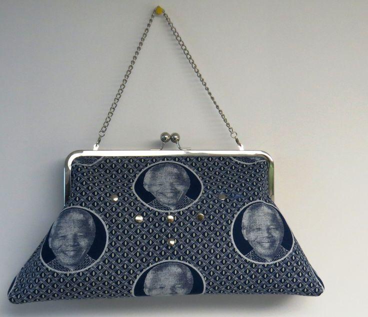 Madiba shweshwe clutch purse by Chidima Dezigns.