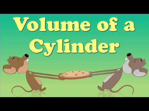 Volume of a Cylinder - YouTube        Repinned by Chesapeake College Adult Ed. Free classes on the Eastern Shore of MD to help you earn your GED - H.S. Diploma or Learn English (ESL).  www.Chesapeake.edu