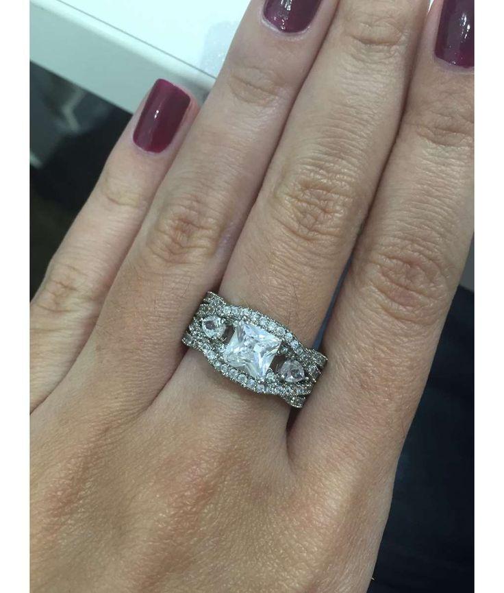 anel solitario quadradinho prata