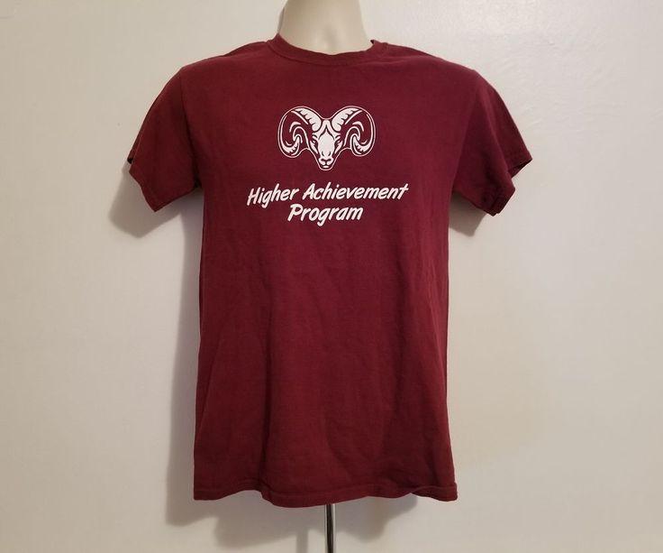 Fordham University Higher Achievement Program Adult Small Burgundy TShirt #Gildan