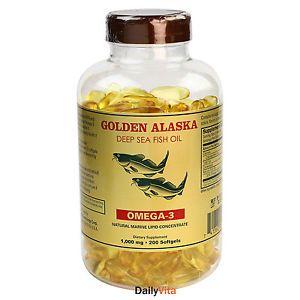 Alaska Deep Sea Fish Oil, Omega 3, DHA/EPA 1000 mg 200 Softgels, FRESH,FAST SHIP