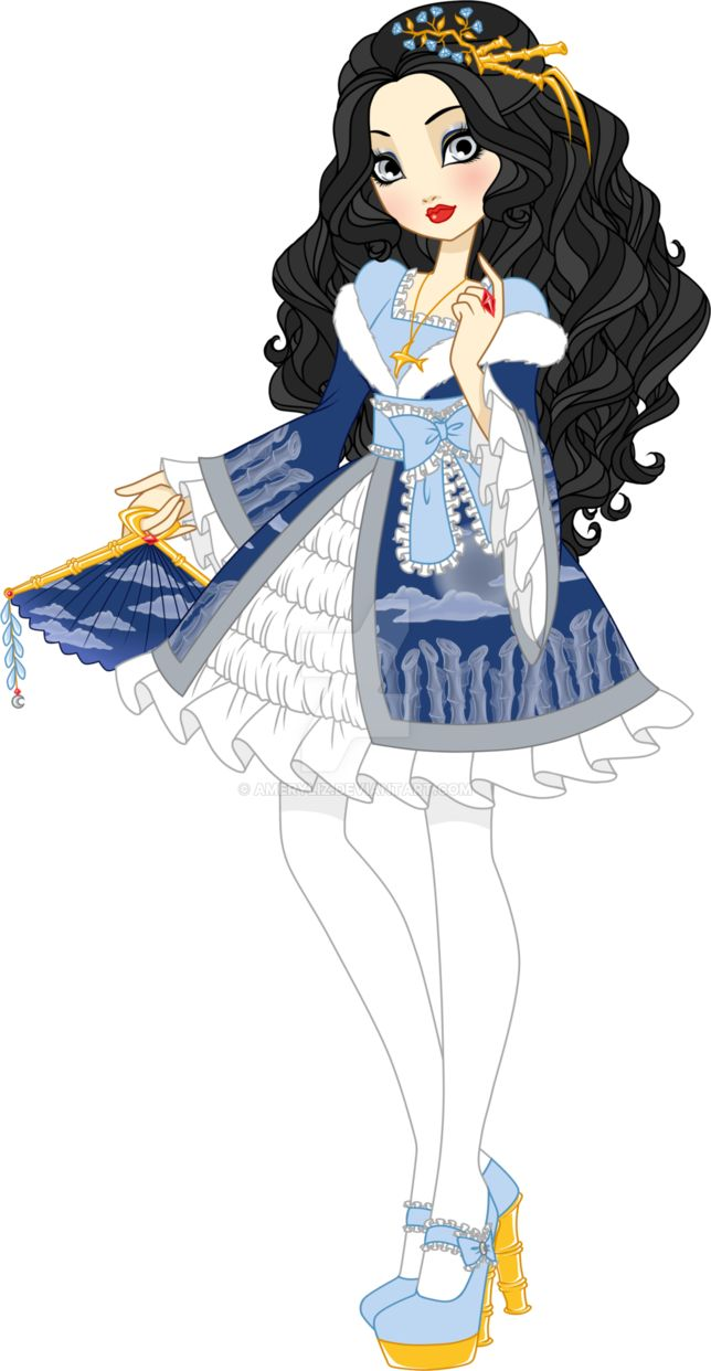 """Yes, I finished her! You know, I have problems with finishing arts... So, this is my EAH OC, Crystal Glassmountain, a daughter of a princess form one of polish fairytales 'The Glassmountain"""". You c..."""