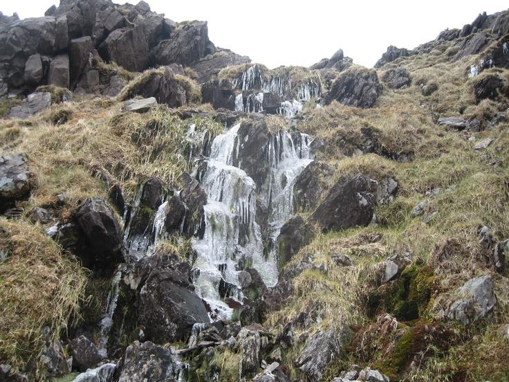 Frozen waterfall - Near the Heavenly Gates on the Reeks