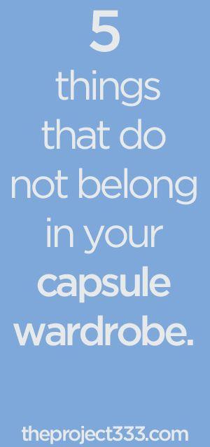 5 Things that do not Belong in Your Capsule Wardrobe