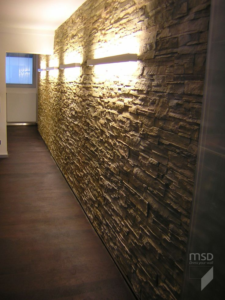 Wall remodeling with msd ochre stone like strata panels home design ideas pinterest stone - Steinwand paneel ...