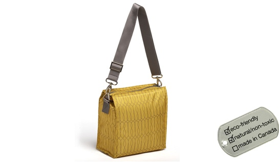 Upright Insulated Lunch Tote - saffron yellow