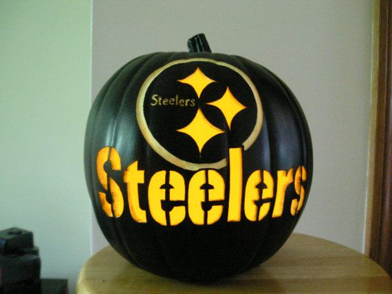 PITTSBURGH STEELERS~Black Handcarved Carved Pittsburgh Steelers by purpleinkgraphics