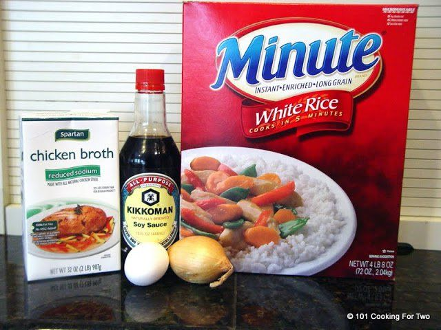 "An easy fried rice recipe using Minute Rice for that ""eat in"" Chinese meal. Another quick, use what you have on hand, recipe."