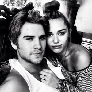 Miley Cyrus and Liam Hemsworth 2012
