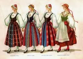 Finnish folk costumes are different for every region.