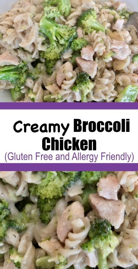 A fantastic 1-pot meal!  This creamy broccoli chicken uses coconut instead of milk products.  Gluten free, dairy free, soy free and egg free.  #1potmeal #chicken #glutenfree #dairyfree #pasta #broccoli