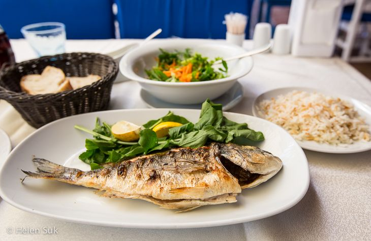 Enjoy a seafood meal from the fish market in Fethiye. Click for more things to do in this city on the Aegean Sea.